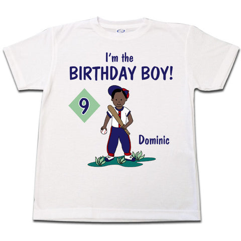 Baseball Boy Birthday T Shirt