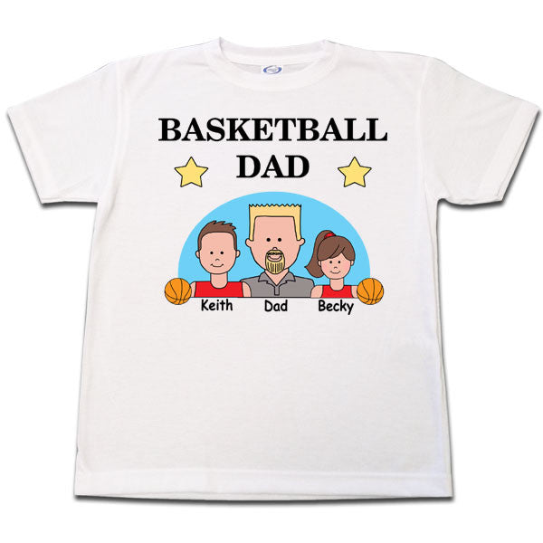 a9aee022511 Basketball Dad Personalized T Shirt – Mandys Moon Personalized Gifts