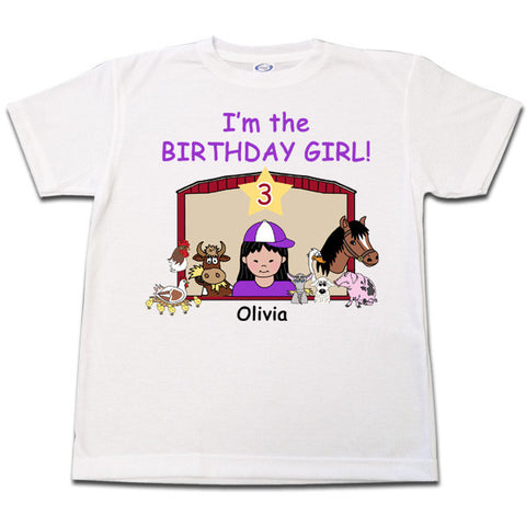 Barnyard or Petting Zoo Birthday T shirt - Girl
