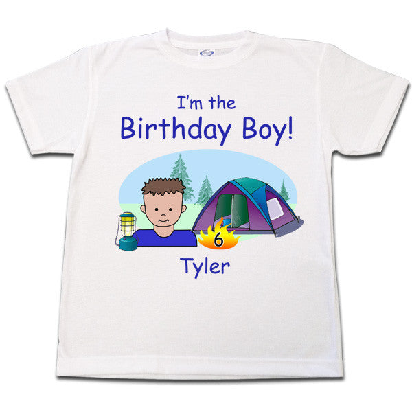 Camping Kids Birthday T Shirt Personalized