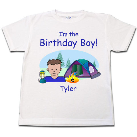 Camping Kid Birthday T Shirt - Boy