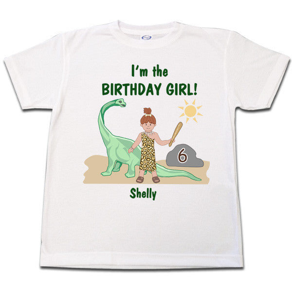 Dinosaur Birthday T Shirt - Girl