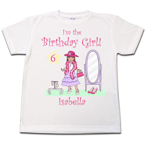 Dress Up Girl Birthday T Shirt