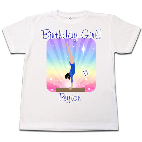 Gymnastics Dreams Birthday T Shirt - Beam Design