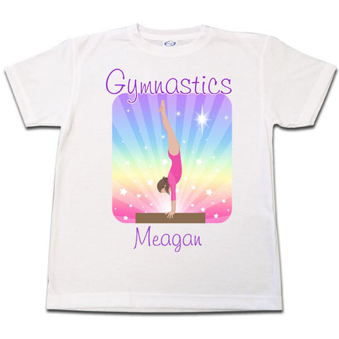 Gymnastics Dreams T Shirt - Beam Design