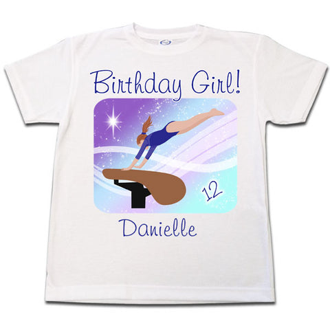 Gymnastics Dreams Birthday T Shirt - Vault Design