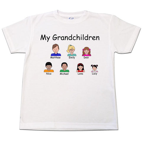 Cartoon Family Parent or Grandparent T Shirt - up to 8 people