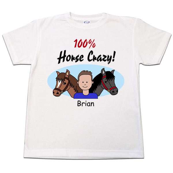 Horse Crazy T Shirt - Boy