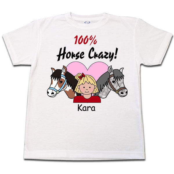 Horse Crazy T Shirt - Girl