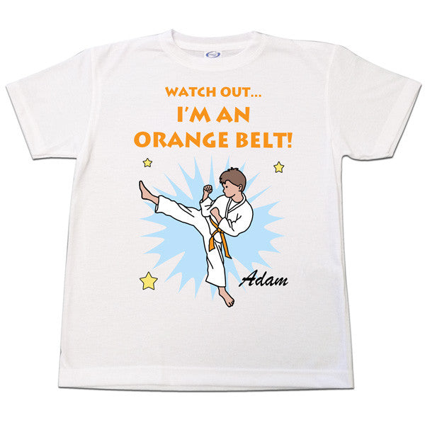 Karate or Martial Arts Boy T-Shirt - Kick Design