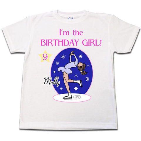 Ice Skating Birthday Shirt - Layback Skater