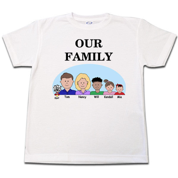 a5989a37 Cartoon Family T Shirt Personalized Gift – Mandys Moon Personalized ...