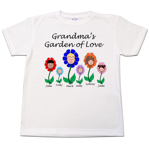 Cartoon Family Garden of Love T Shirt