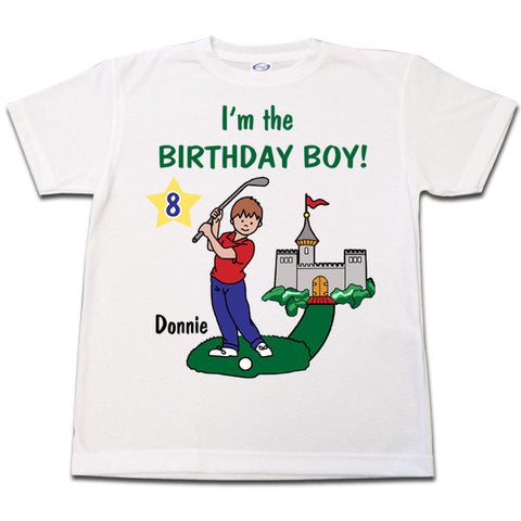 Mini Golf Birthday T Shirt - Boy