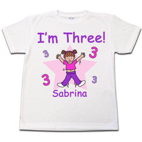 Number Birthday Girl T shirt