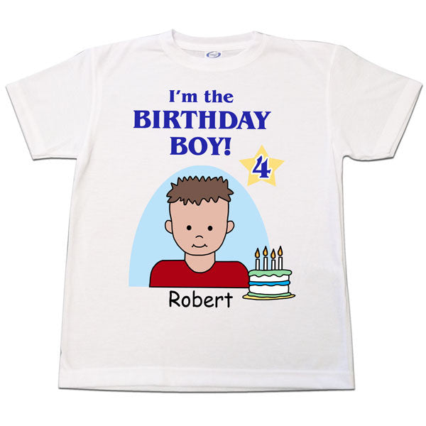 Birthday Boy T Shirt Personalized With Age Number And Name Mandys Moon Gifts
