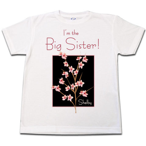 Peach Blossom Big Sister T Shirt