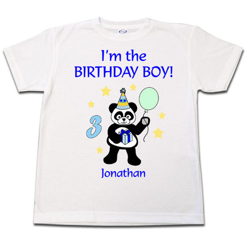 Birthday Party Panda T Shirt - Boy