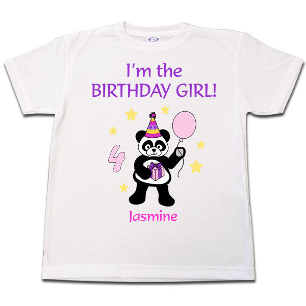 Birthday Party Panda T Shirt - Girl