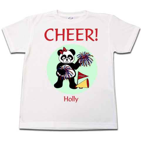 Cheerleader Panda Shirt