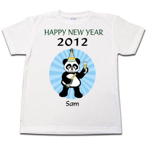 New Year Party Panda T Shirt