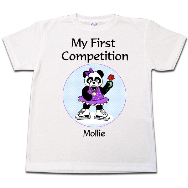 Ice Skating Panda T Shirt