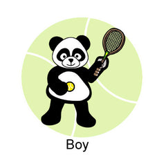 Tennis Panda Shirt Boy Design