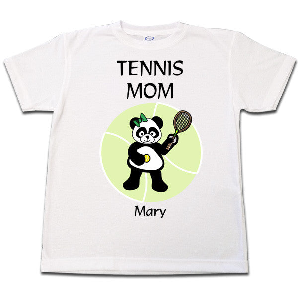 Tennis Panda T Shirt - Girl Design
