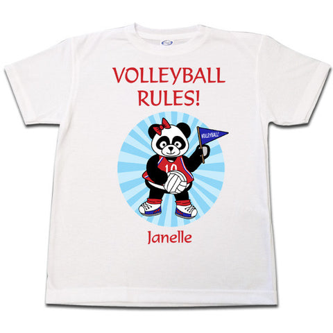 Volleyball Panda T Shirt - Girl