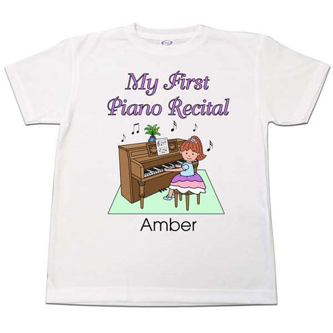 Piano Recital Girl T Shirt
