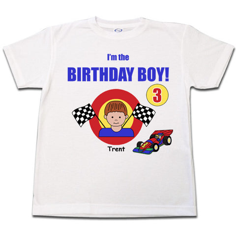 Race Car Birthday T Shirt