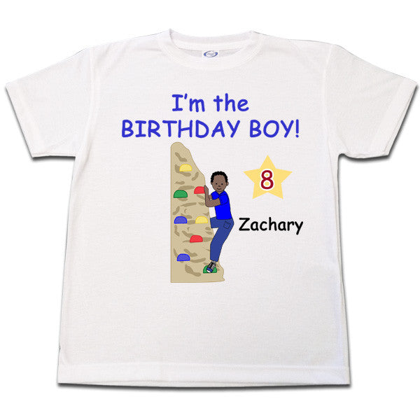 Rock Climbing Birthday T Shirt