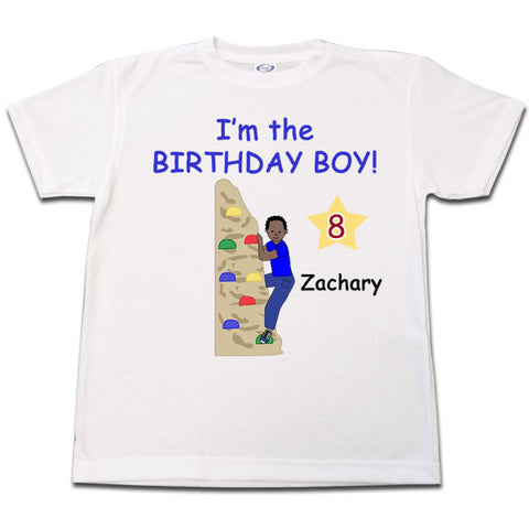 Rock Climbing Birthday T Shirt  - Boy