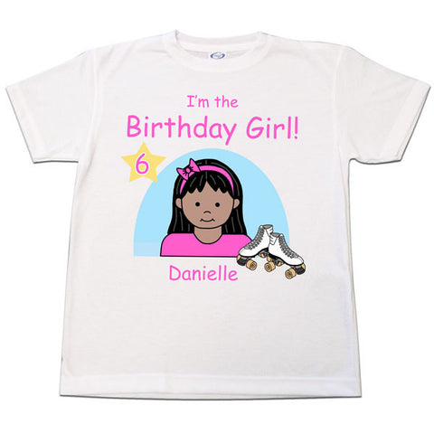 Roller Skating Kid Birthday T Shirt - Girl