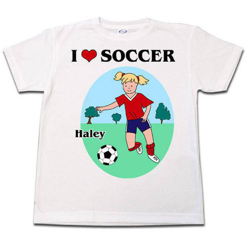 Soccer Player T Shirt - Girl