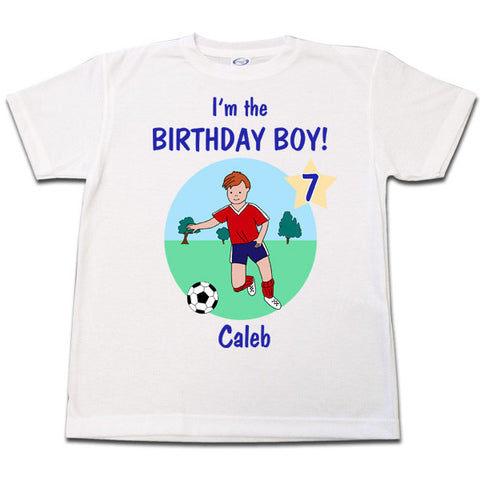 Soccer Player Birthday T Shirt - Boy