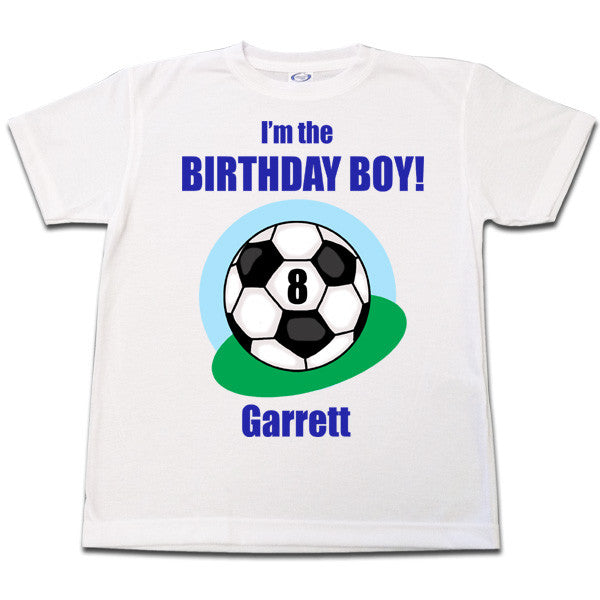 Soccer Ball Birthday T Shirt