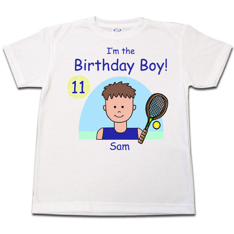 Tennis Kid Personalized Birthday T Shirt - Boy