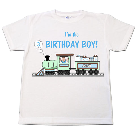 Train Birthday T Shirt - Boy