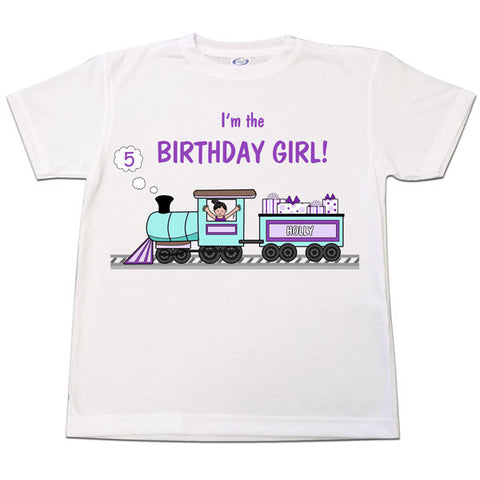 Train Birthday T Shirt - Girl