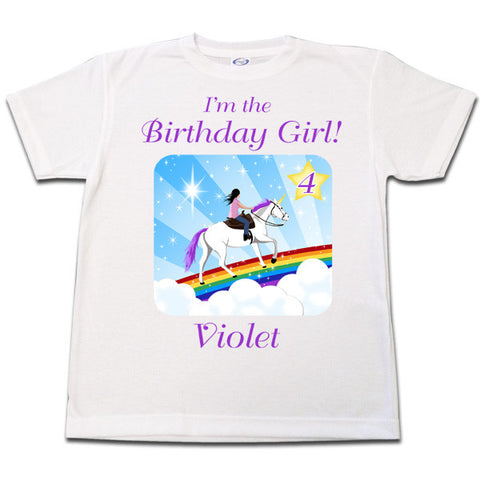 Unicorn Dreams Birthday T Shirt