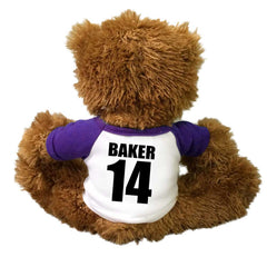 Back of Personalized Football Teddy Bear