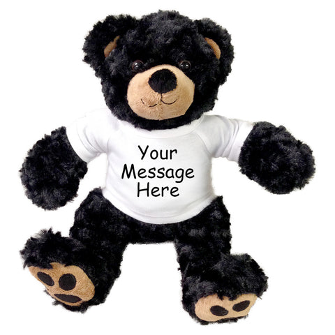 Personalized Teddy Bear - 13 inch Vera bear, Black