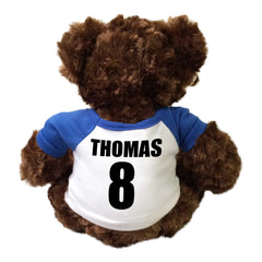 Personalized Sports Teddy Bear - Back