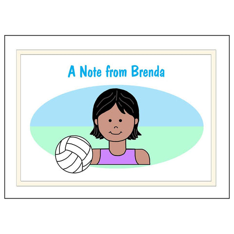 Volleyball Girl Personalized Thank You Note Cards