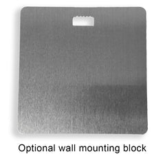 Optional wall mount backing for metal prints