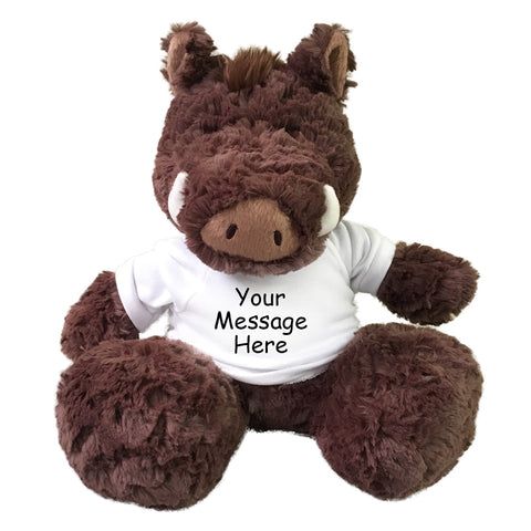 "Personalized Stuffed Warthog - 12"" Aurora Plush"