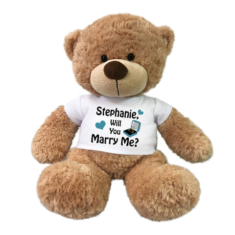 "Will You Marry Me Teddy Bear - Personalized 16"" Bonny Bear"
