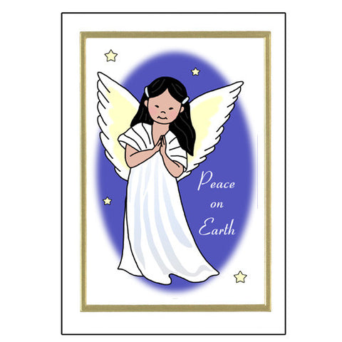 Asian Angel Christmas Cards
