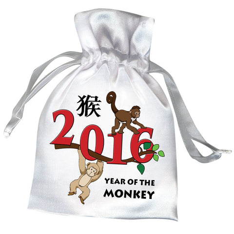 Year of the Monkey 2016 Chinese Zodiac Party Favor Bag